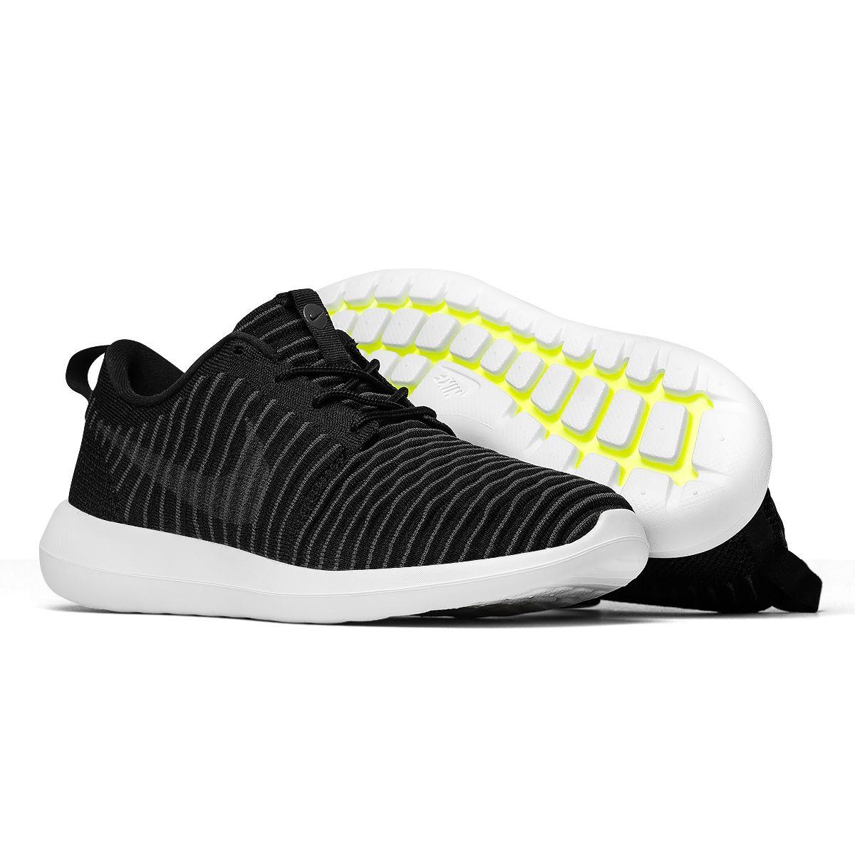 4bf8d277050 Tênis Nike Roshe Two Flyknit Preto - Maze