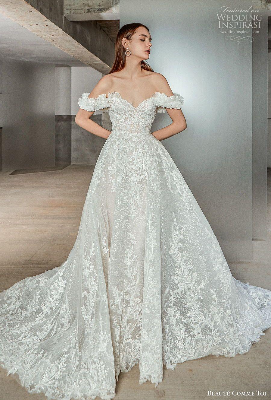 Beaute Comme Toi Spring Summer 2021 Wedding Dresses Chandelier Bridal Collection Wedding Inspirasi Designer Bridal Gowns Wedding Dresses Lace Boho Wedding Dress [ 1326 x 900 Pixel ]