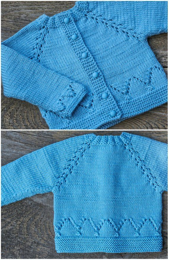 Photo of Himmelblauer Babypullover blauer Baby Cardigan Wollpullover warmer Pullover … …