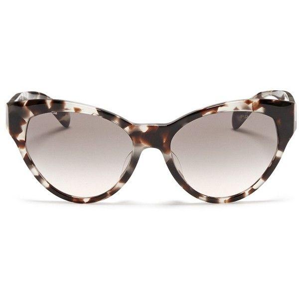 bcfd8bce3cf48 ... canada prada tortoiseshell acetate cat eye sunglasses 250 liked on  polyvore featuring accessories 478ca 0a1c5