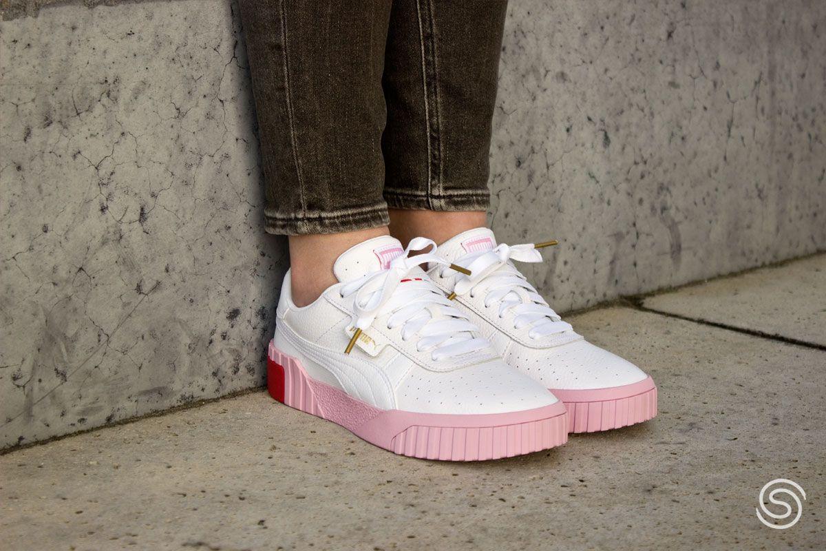 Puma Cali Wit/Roze Dames | Mode, Sneakers mode, Sneaker