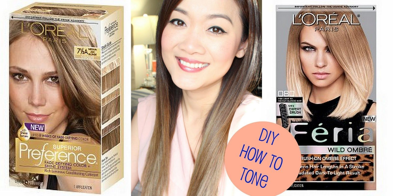 Diy How To Tone Brassy Hair After Using Loreal Feria Wild Ombre
