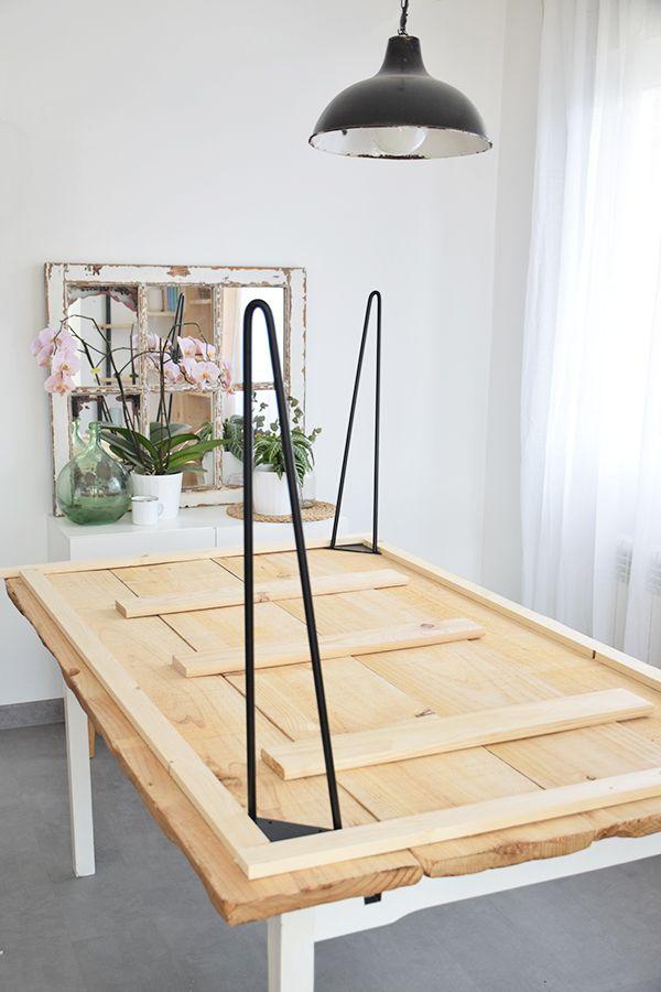 Cómo hacer una mesa de comedor rústica