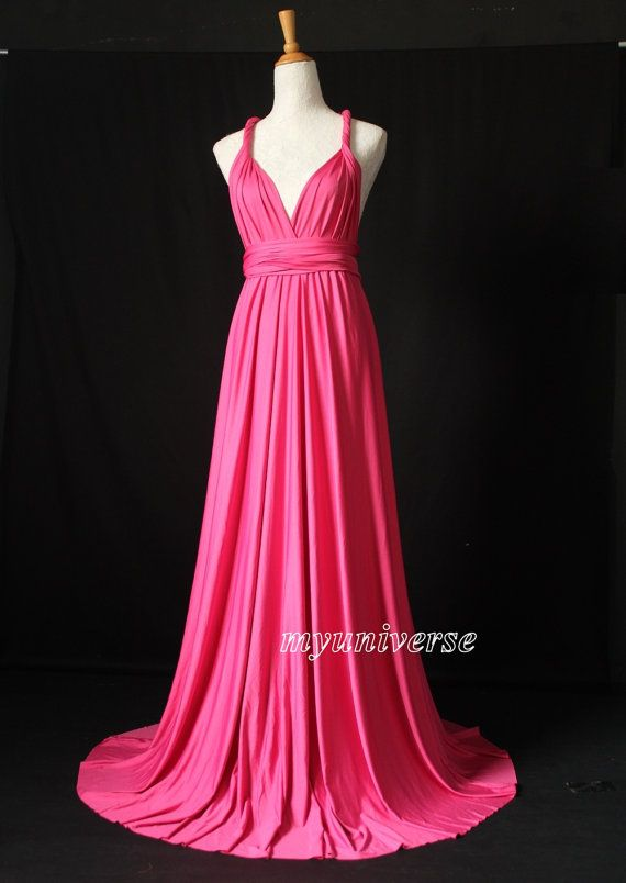 Rose Pink Infinity Dress Wrap Convertible Dress Bridesmaid Dress ...