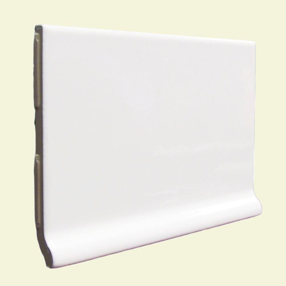 U S Ceramic Tile Color Collection Bright White Ice 3 3 4 In X 6