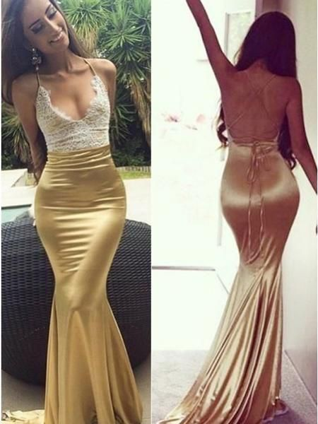 79ce418a8c6 Sexy Mermaid Open Back Simple Cheap Popular Long Prom Dresses