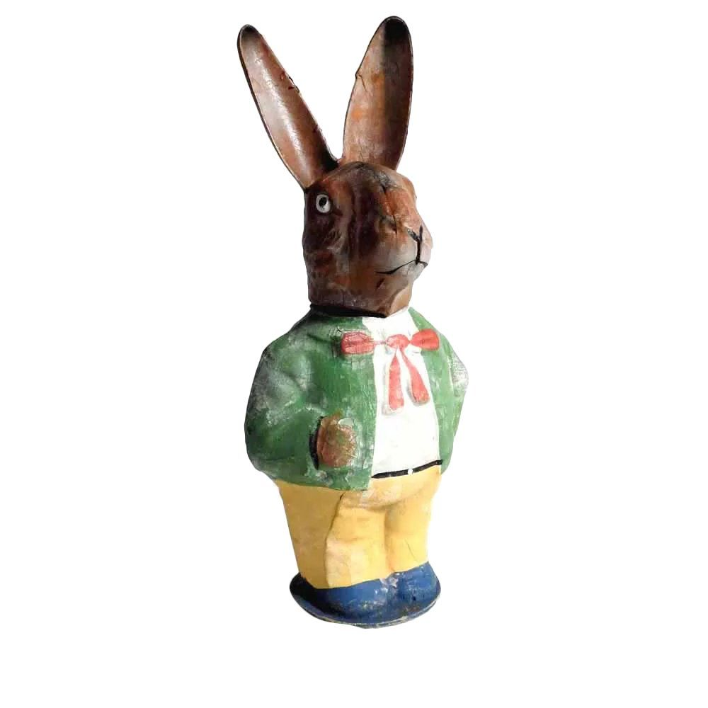 Darling old rabbit easter container vintage easter