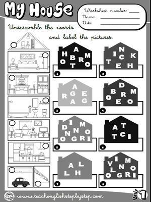 Mi casa - Hoja de Trabajo 2 (B & W versión) | AGENDAS, CARTAPACIOS ...