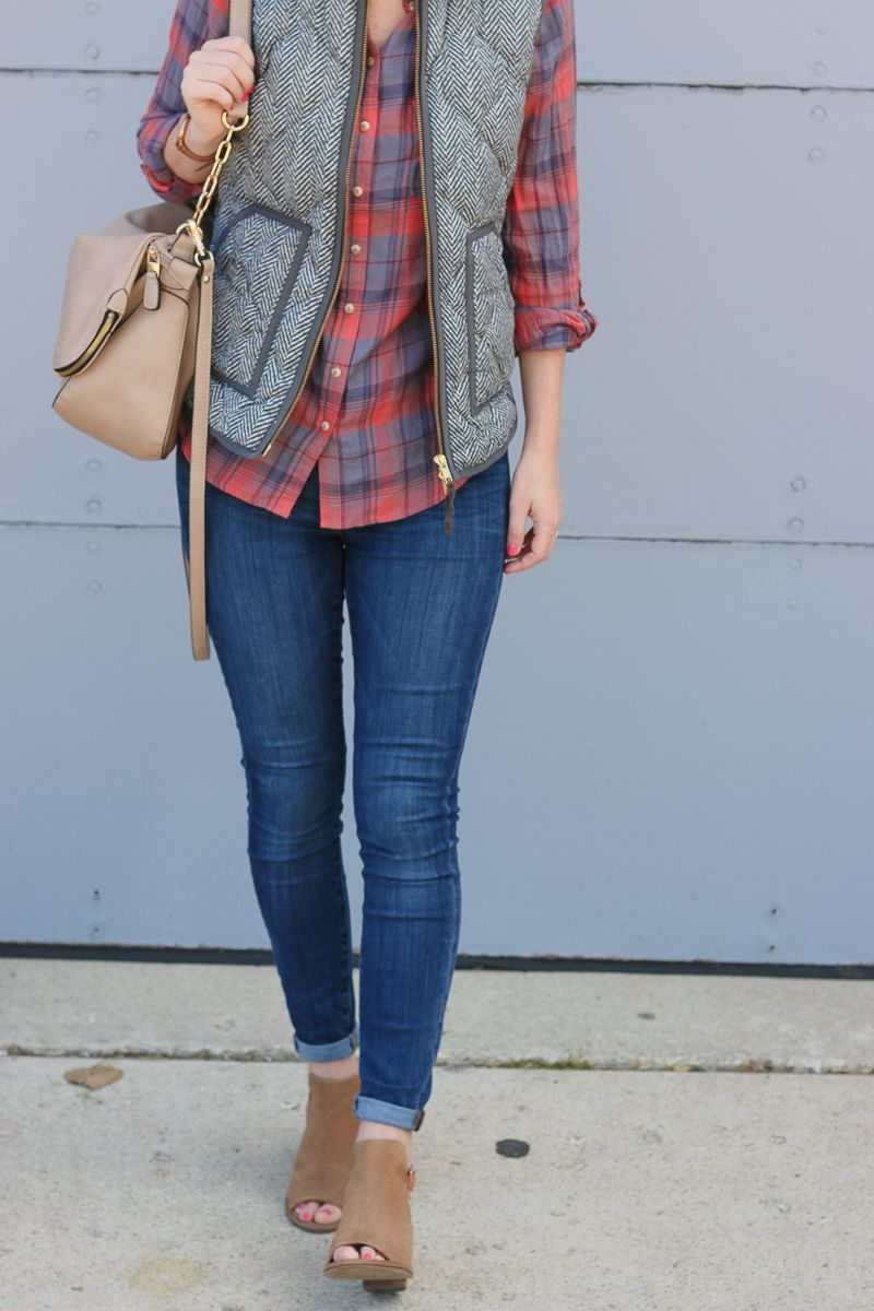 Flannel fashion makeup  The DIY Playbook Style Series  Vests for Fall Fashion  Layering