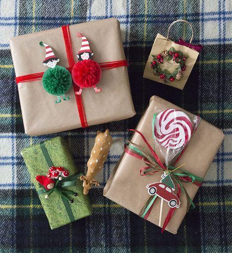 4 formas originales de envolver regalos de Navidad para niños - envoltura de regalos originales