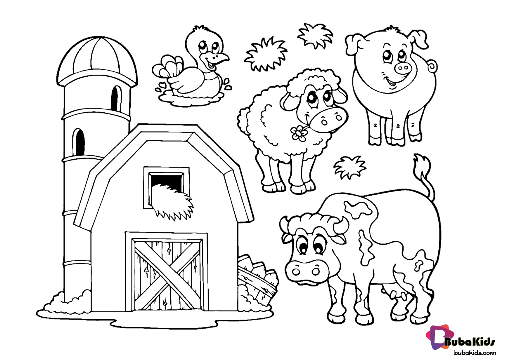 Farm Animal Coloring Page For Children To Print And Color Collection Of Animal Coloring Pages Farm Animal Coloring Pages Animal Coloring Pages Coloring Pages
