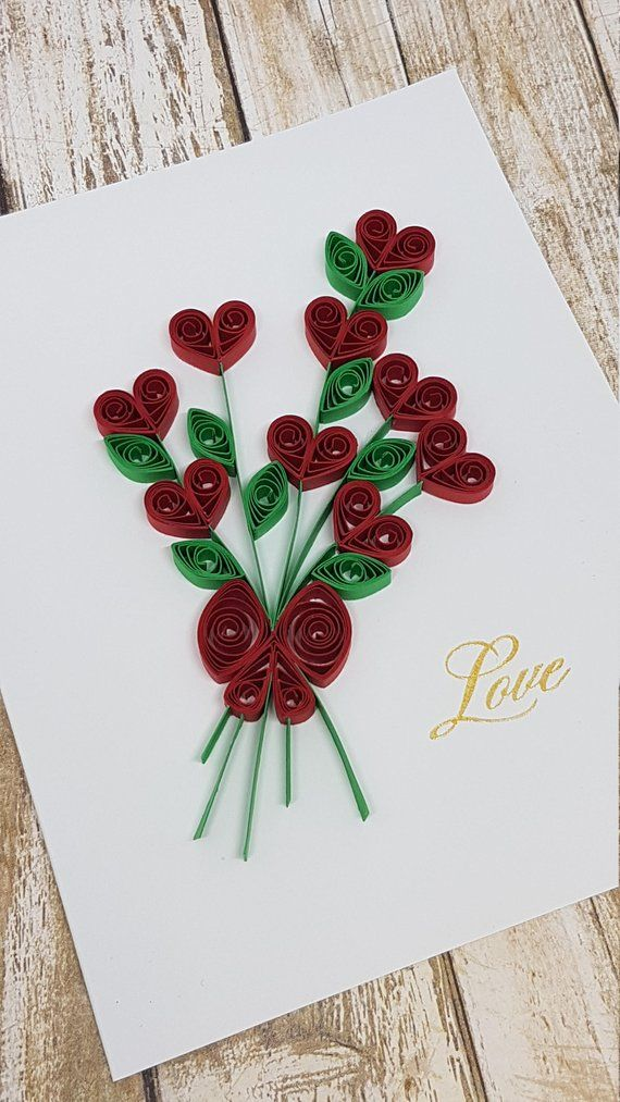 Paper quilled love card  etsy also quilling pinterest rh