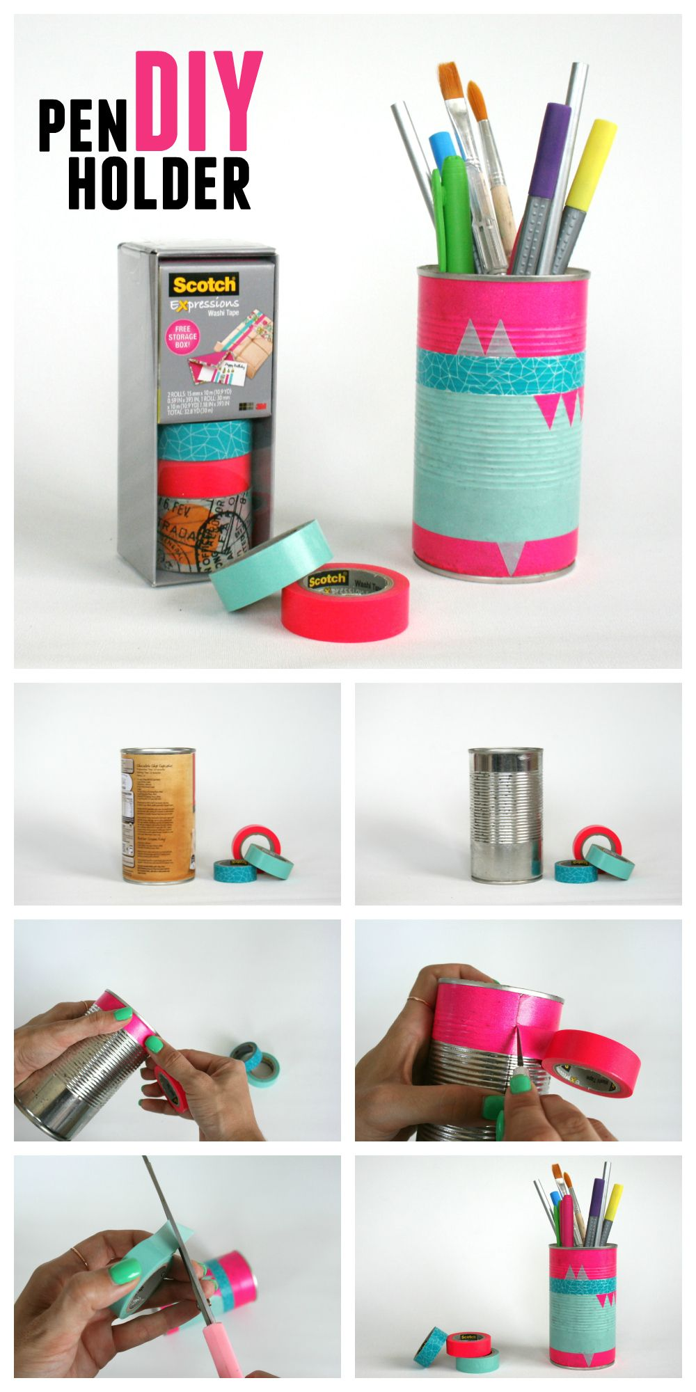 U0027DIY: Pen Holder / Desk Caddy / Pencil Organiser...!u0027 (via Unleash Creative)