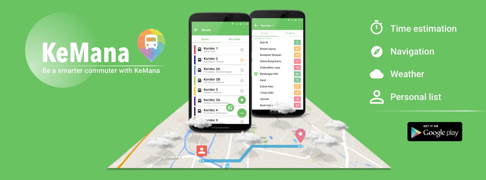 Bus app/ Android app/ banner/advertisement/screenshot | MyWorks