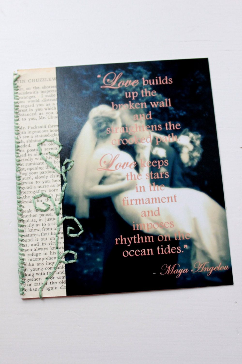 Maya angelou quote on a vintage inspired encouraging handmade maya angelou quote on a vintage inspired encouraging handmade greeting card 299 kristyandbryce Images