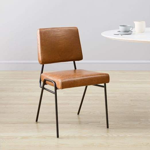 Wire Frame Leather Dining Chair Dining Chairs Leather Dining