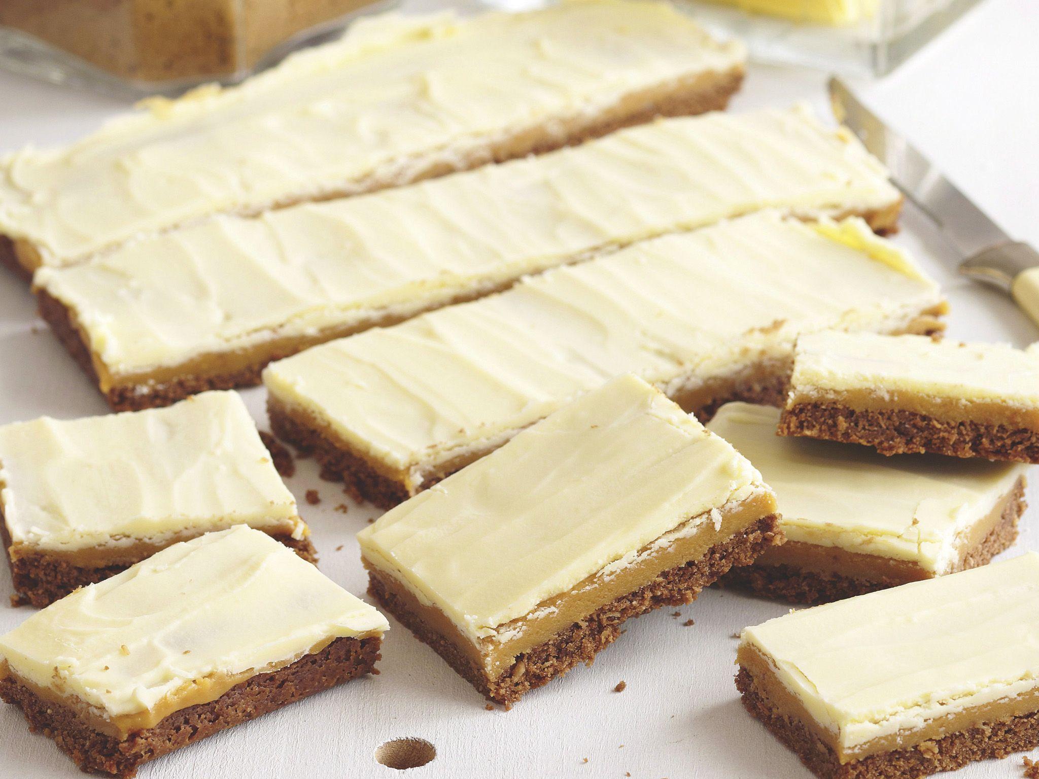 Double caramel slice recipe caramel slice chocolate