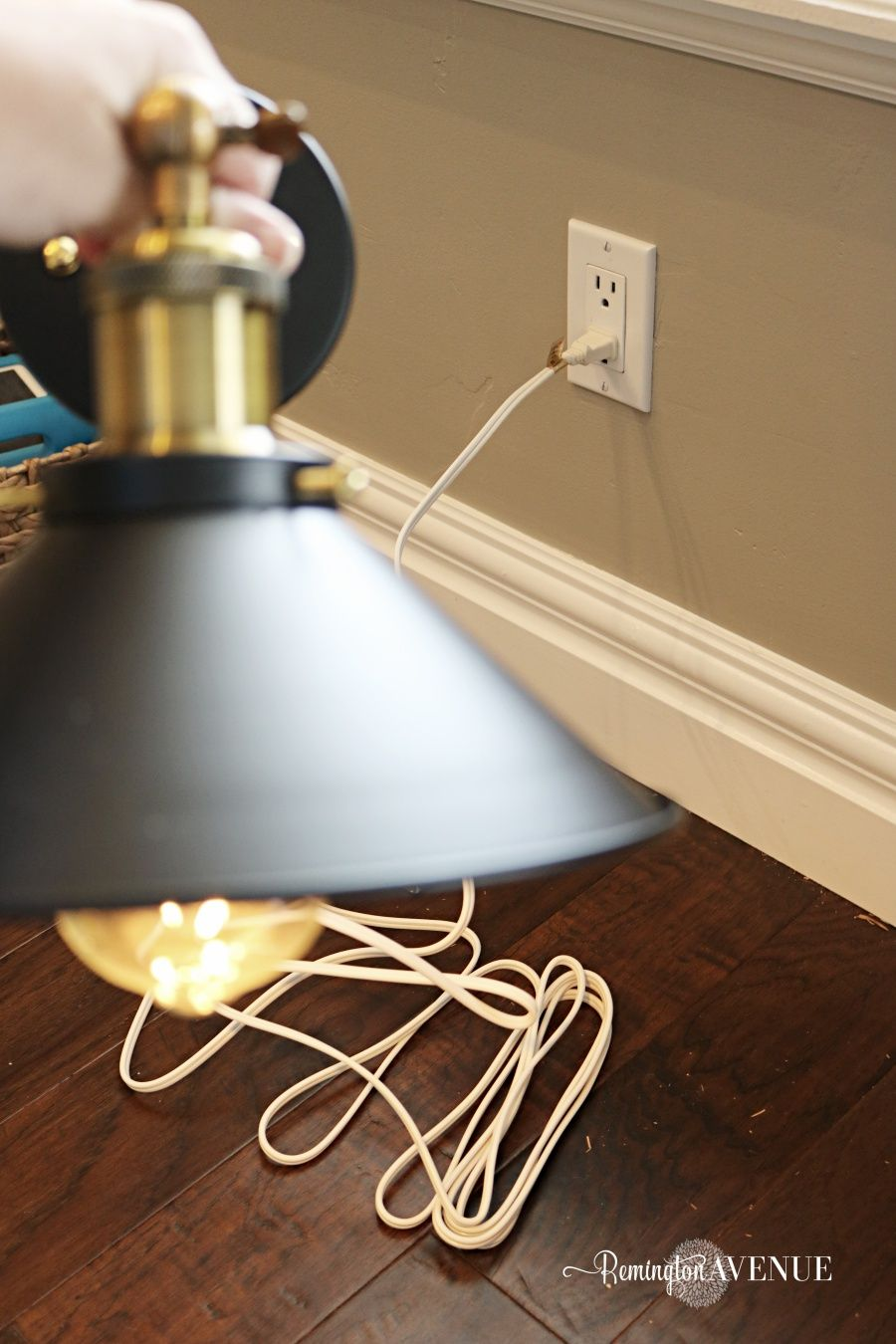 How to convert hard wired light fixtures into a plug in ... on Sconces No Electric Plug id=33681