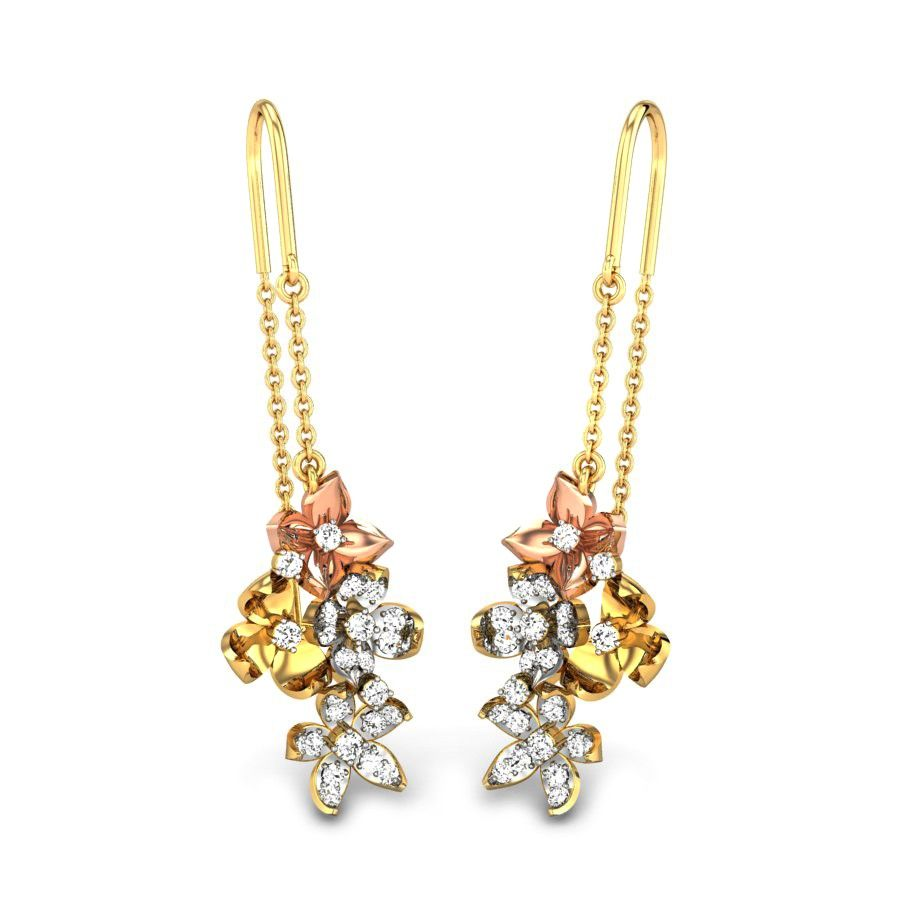 Very elegant pull through earrings inspired by flowers. They can be worn for…