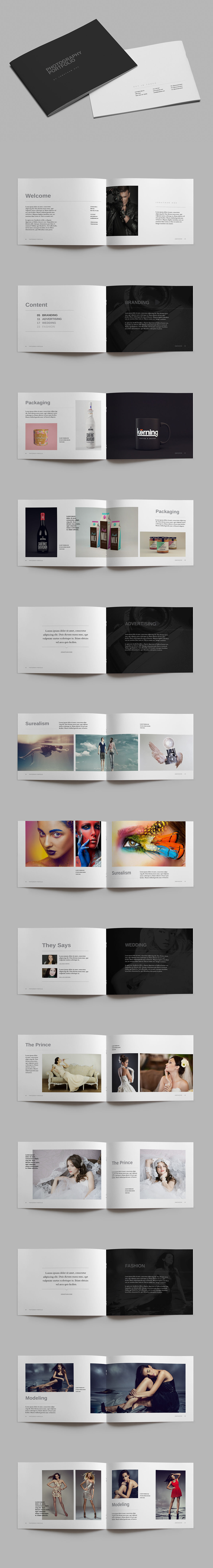 A Photography Portfolio Brochure Template InDesign INDD Pages - Photography portfolio template