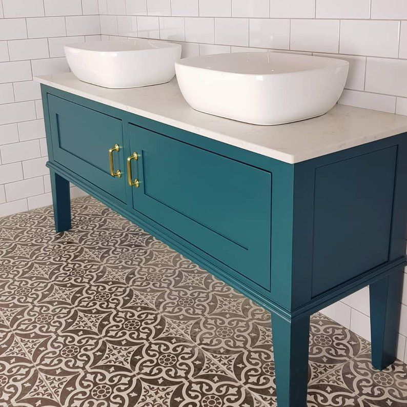 Bespoke Bathroom Vanity Unit With A Quartz Worktop Made To Order Handmade In Yorkshire In 2020 Bathroom Vanity Units Vanity Units Vanity