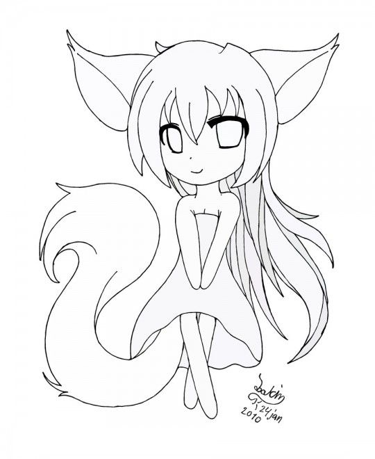 18 Best Photos Of Anime Fox Coloring Pages