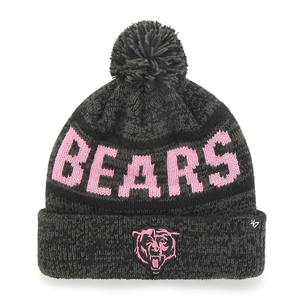 30851cec6cf Chicago Bears Northmont Cuff Knit Charcoal 47 Brand Womens Hat ...