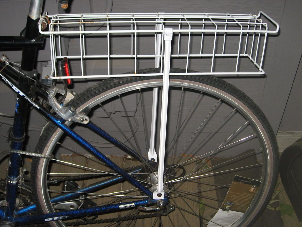 Make A Rear Bike Rack From Scavenged Kitchen Materials Diy Bike