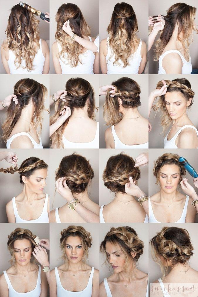 Crown Braid/Halo Braid Braided Hair Tutorial // SKMU ...