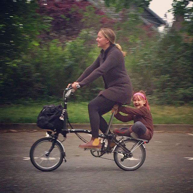 Brompton Girl Woman Kid Fahrrad