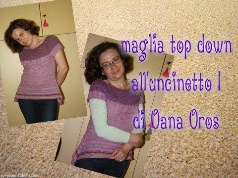 Maglia Estiva Top Down I Youtube Oana Oros Pinterest
