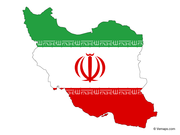 Flag Map Of Iran Free Vector Maps Map Vector Map Vector Free