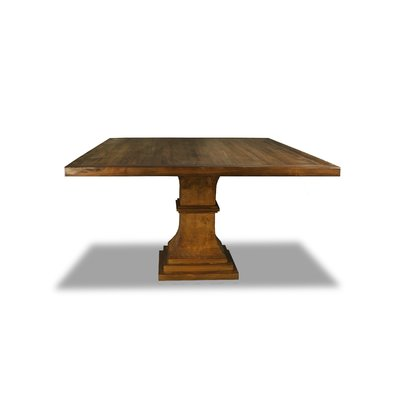 Tavernia Solid Wood Square Dining Table Color Walnut Size 30 H