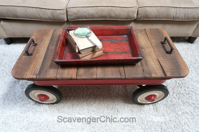 Little Red Wagon Coffee Table In 2020 With Images Little Red