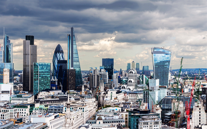 Download Wallpapers London 30 St Mary Axe The Leadenhall Building Skyscrapers Business Centers England Uk City Panorama Besthqwallpapers Com 30 St Mary Axe Skyscraper St Mary