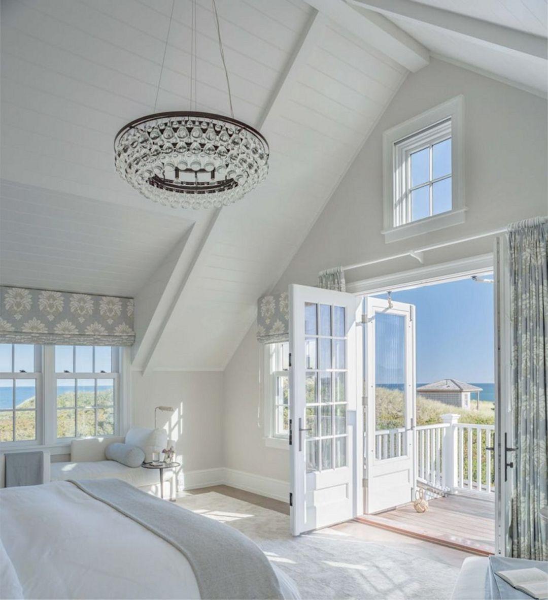 Elegant White Beach House Ideas 036
