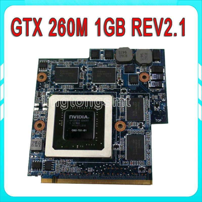 Graphic Card For ASUS G60VX G51vx G51V MXM VGA CARD GTX 260M 1GB
