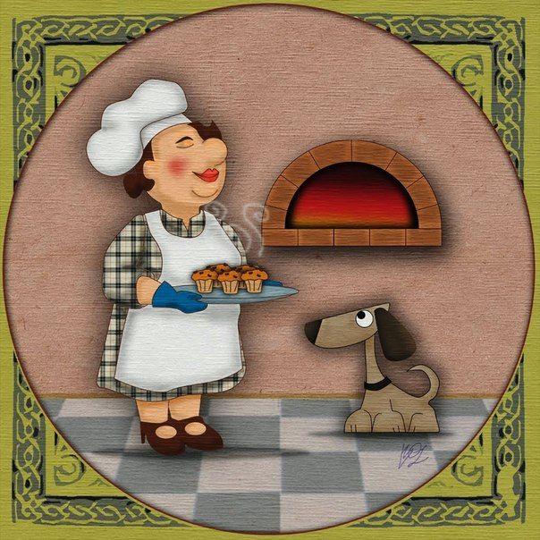 Кухонные картинки веселые