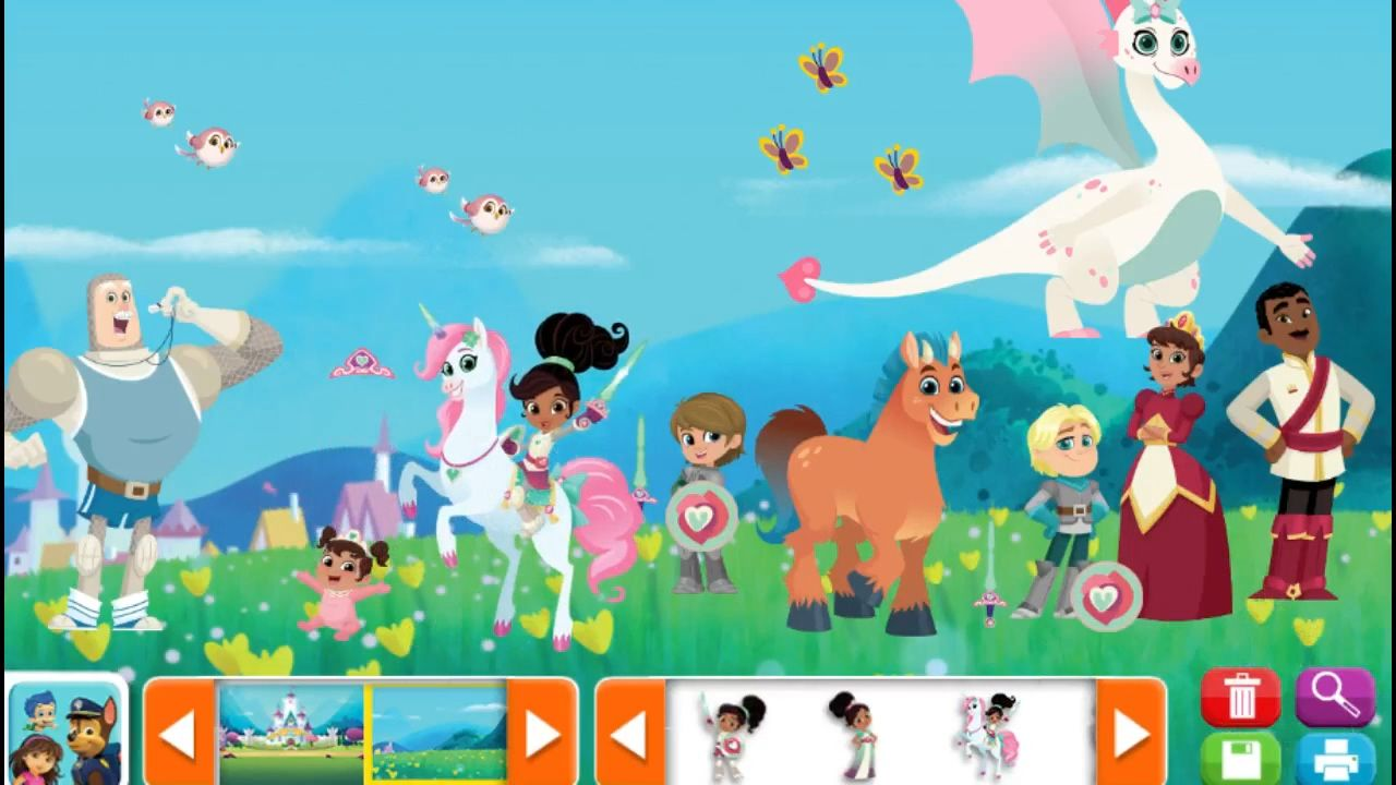 Nella the Princess Knight Nick Jr Sticker Pictures Kids Game ...