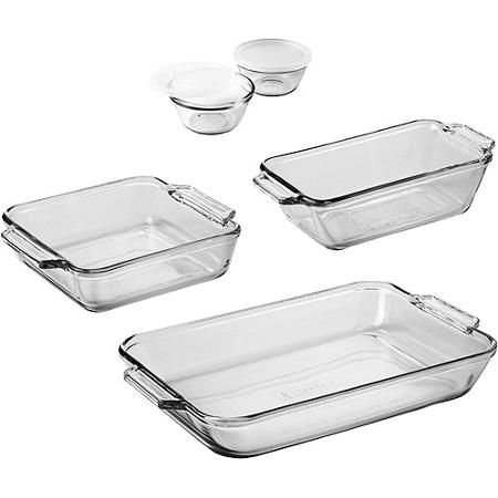 Anchor Hocking Bakeware Set 7 Piece Walmart Com Glass Bakeware Set Glass Bakeware Bakeware Set
