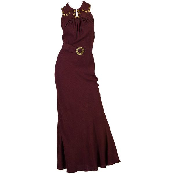 Pre-owned Early 1930s Bias Evening Dress ($1,800) ❤ liked on ...