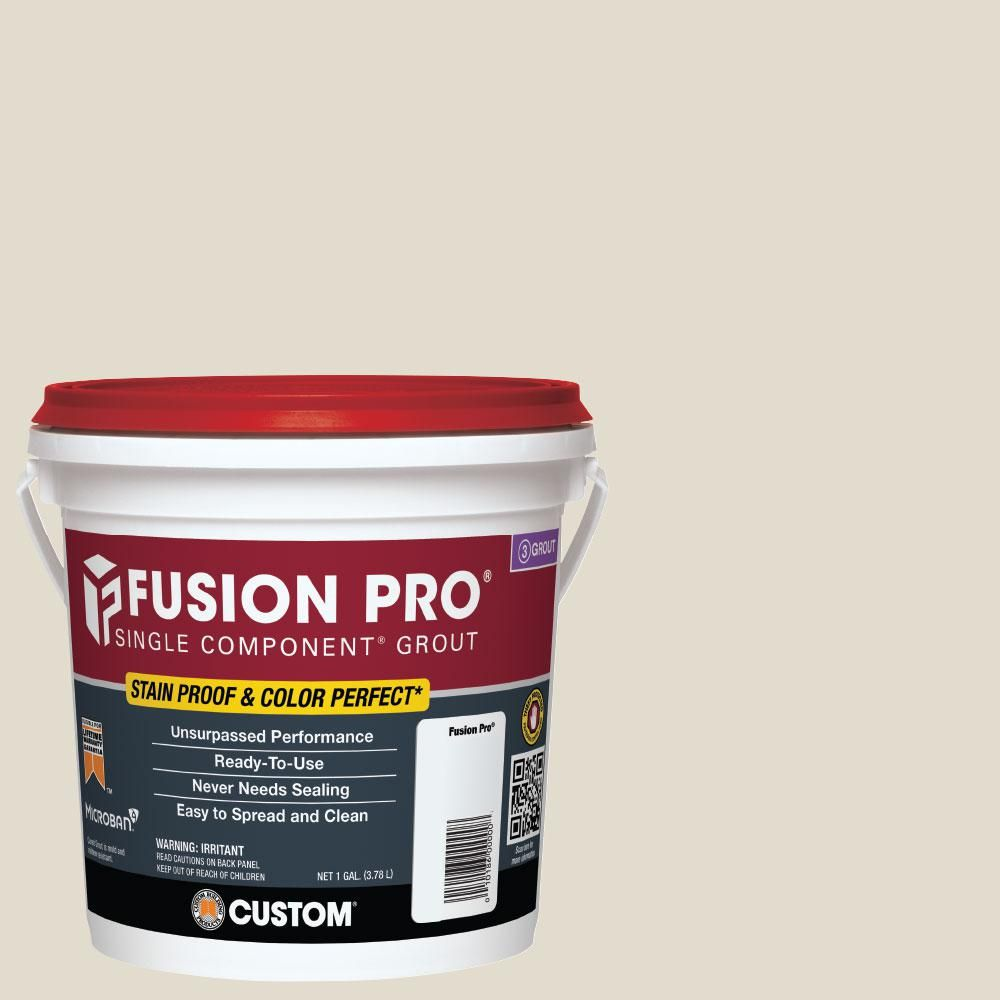Custom Building Products Fusion Pro 11 Snow White 1 Gal Single Component Grout Fp111 2t The Home Depot Fusion Pro Grout Grout Bleached Wood
