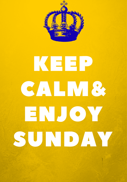 Sunday is a rest day! | Calm, Keep calm, Rest days