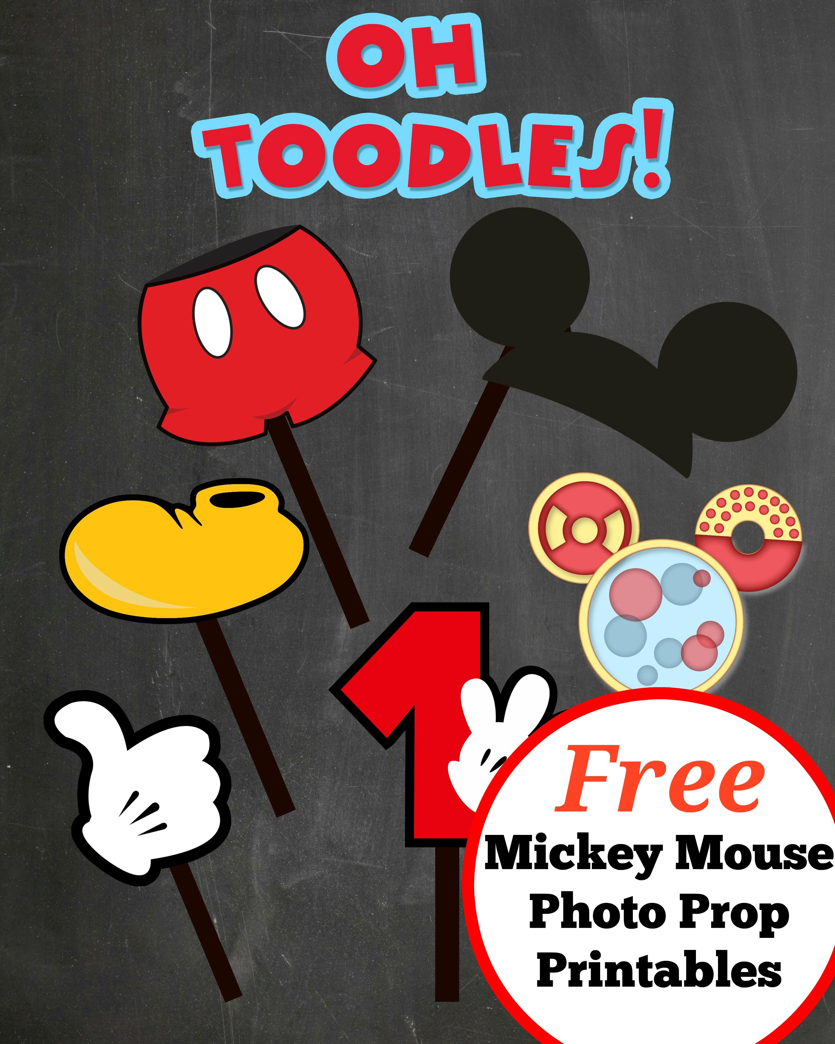 FREE PHOTO PROPS Mickey Mouse printable  templates  Mickey mouse