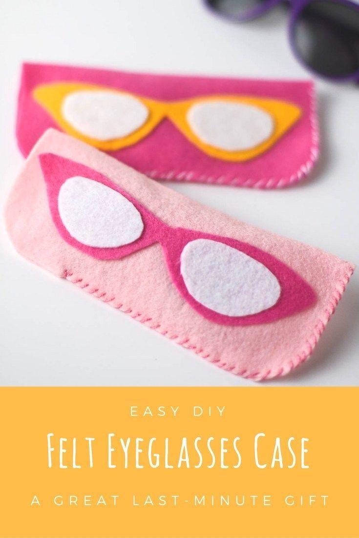 Spectacular Last Minute Gift: Easy DIY Felt Eyeglass Case • Homemaker's Habitat