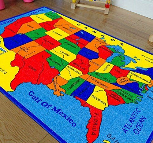 Handcraft Rugs Educational Rugs United States Map For