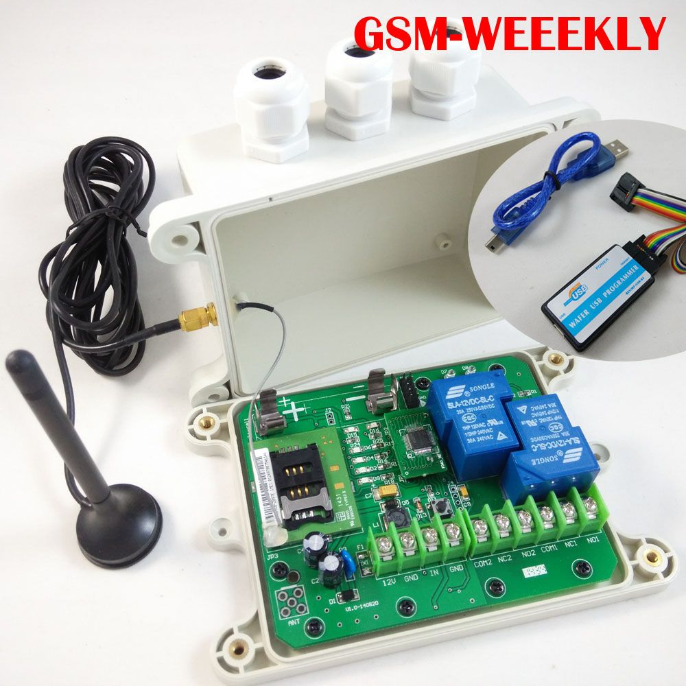 GSM Remote relay switch, 16 segment timer for