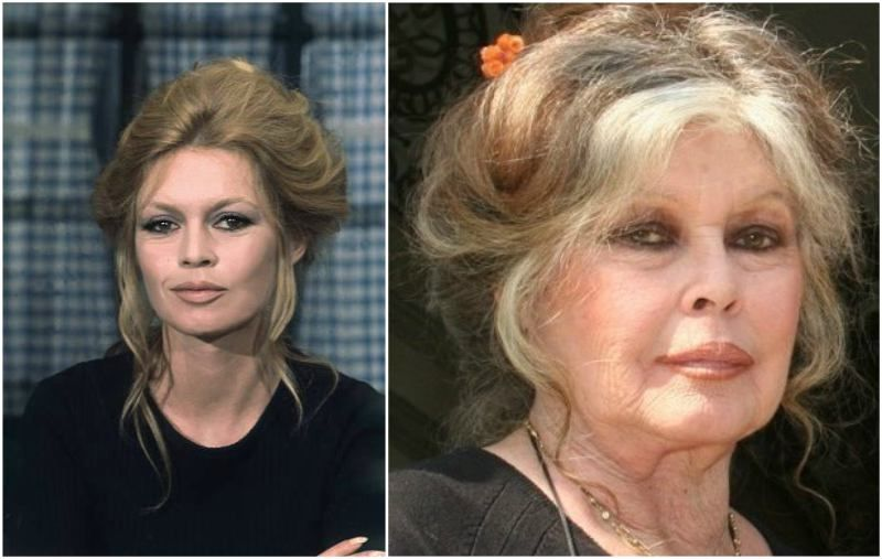 Brigitte Bardot's eyes color - brown and hair color ...