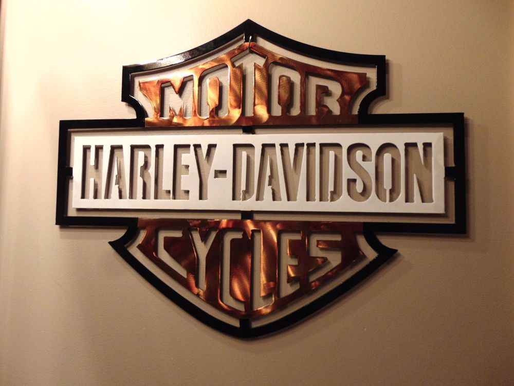 New Harley Davidson Metal Wall Art Design 15u0027 X 20u0027 By GLMAW. # Part 13