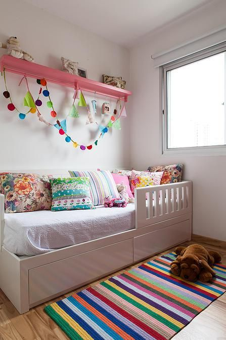 A Renovation in Brazil Apartment - Child's Room, Bed with storage drawers